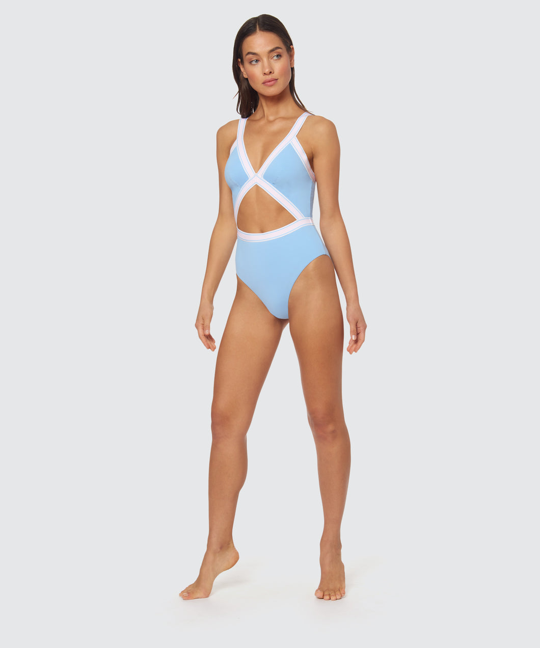 FAST LANE BLAIRE ONE PIECE IN BLUE -   Dolce Vita