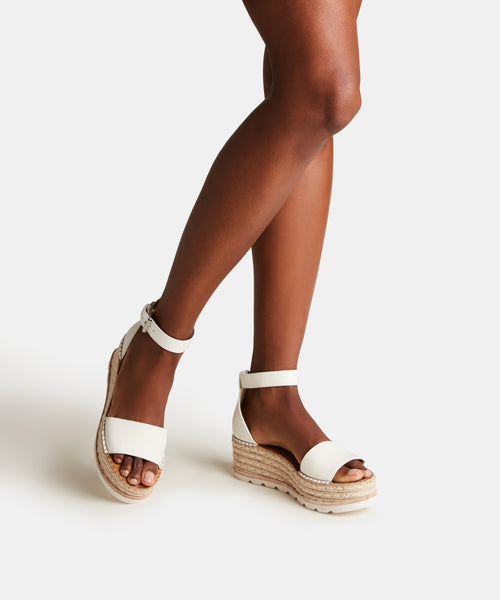 LARITA SANDALS IN WHITE LEATHER -   Dolce Vita