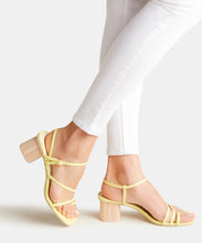 ZYDA HEELS IN CITRON EMBOSSED LIZARD -   Dolce Vita