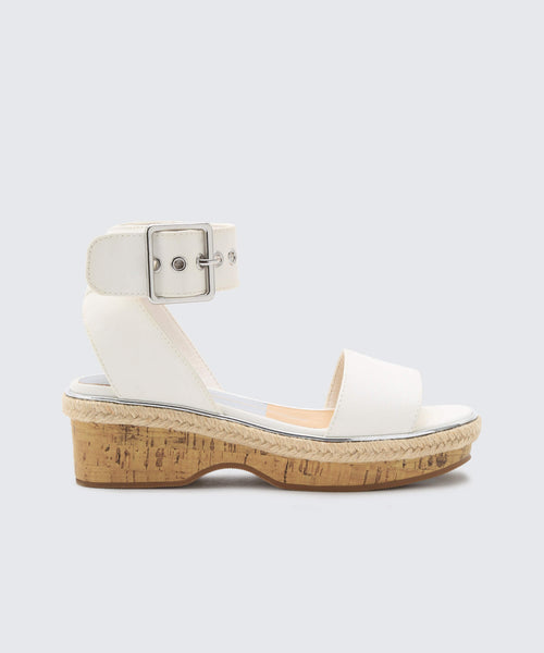 ADRIEL WEDGES WHITE -   Dolce Vita
