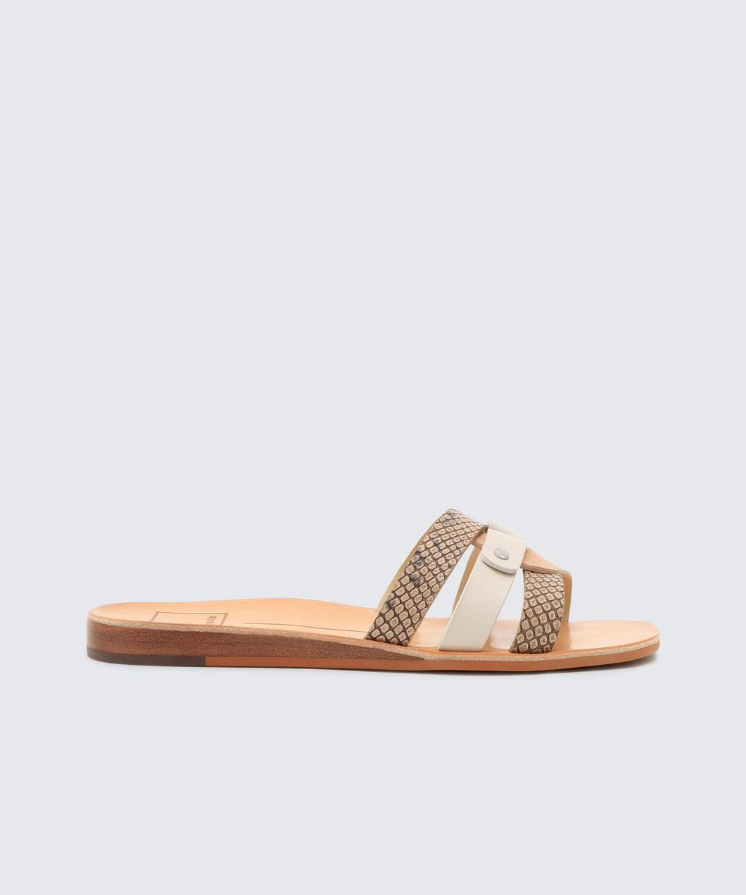 CAIT SANDALS IN WHITE SNAKE -   Dolce Vita