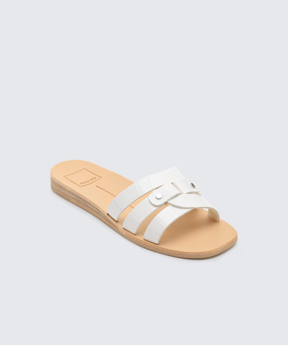 aa646c016cf CAIT SANDALS WHITE CROCO