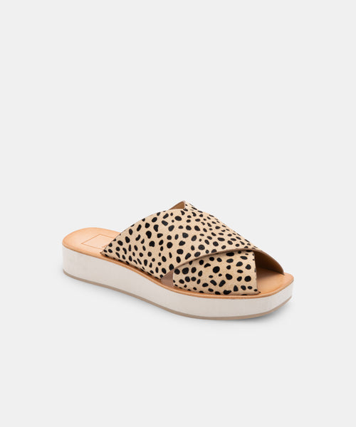 CAPRI SANDALS LEOPARD CALF HAIR -   Dolce Vita