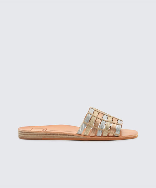 COLSEN SANDALS IN METALLIC -   Dolce Vita