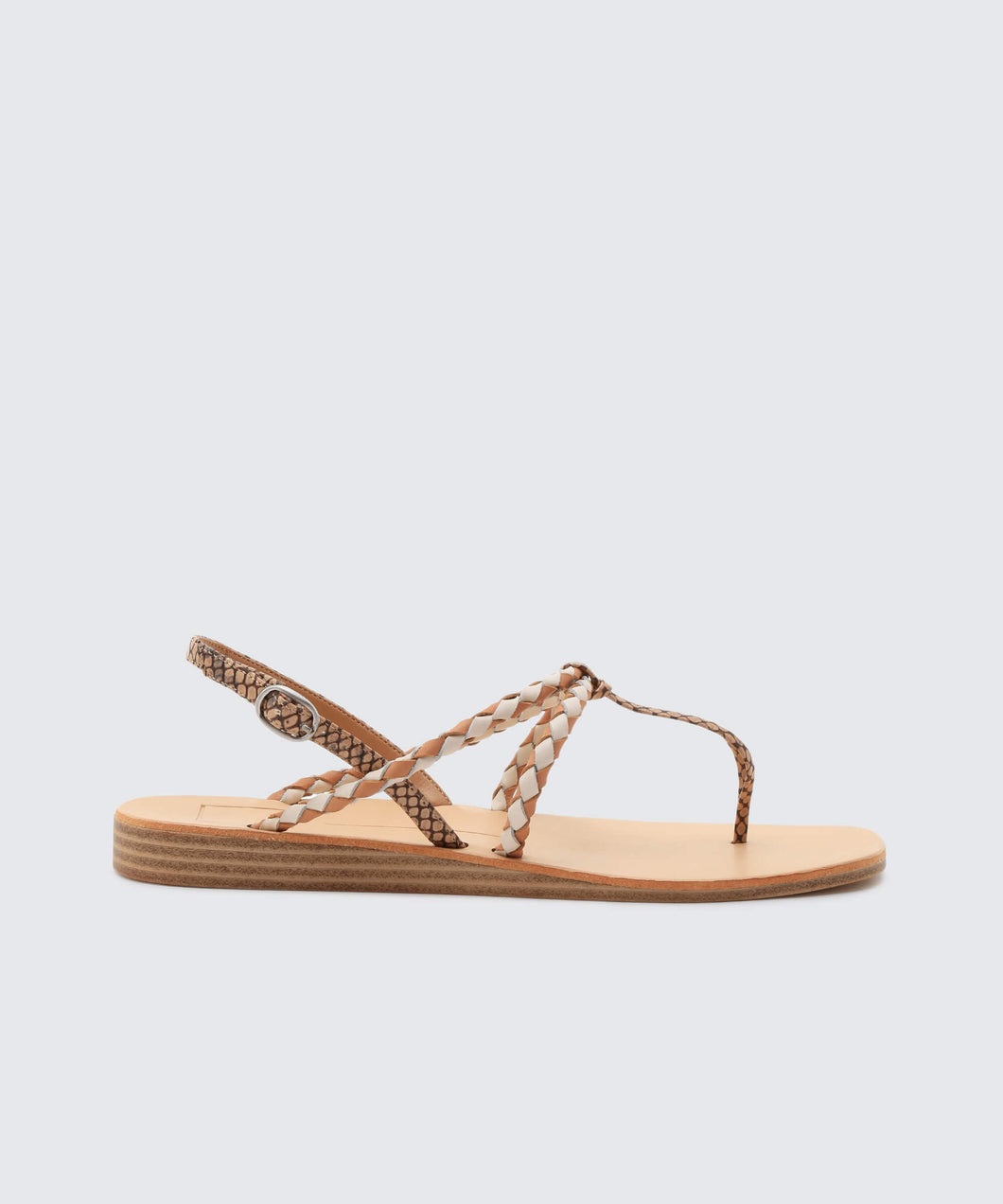 CREE SANDALS IN BROWN SNAKE -   Dolce Vita