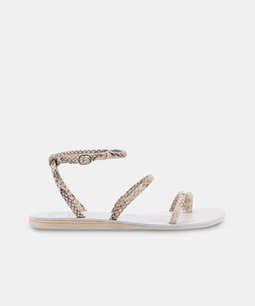 DAREN SANDALS IN BONE EMBOSSED STELLA -   Dolce Vita
