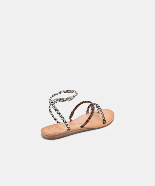 DAREN SANDALS IN COGNAC MULTI COBRA SPOTTED STELLA -   Dolce Vita