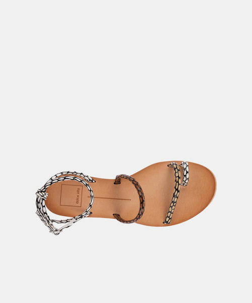 DAREN SANDALS IN COGNAC MULTI COBRA SPOTTED STELLA