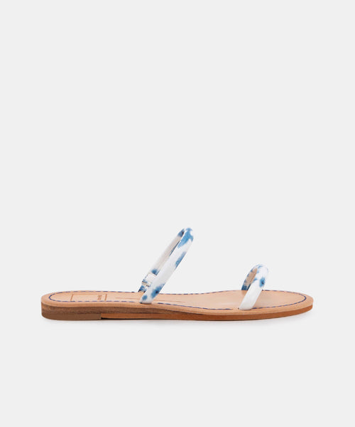 DARLA WIDE SANDALS IN BLUE TIE DYE STELLA -   Dolce Vita
