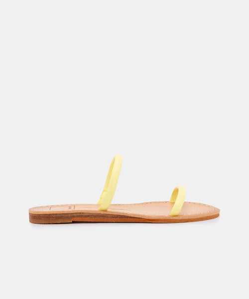 DARLA SANDALS IN CITRON STELLA