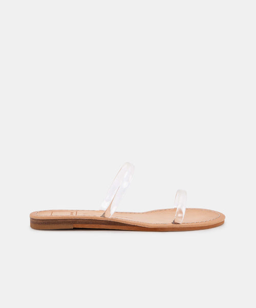 DARLA WIDE SANDALS IN CRYSTAL VINYL -   Dolce Vita