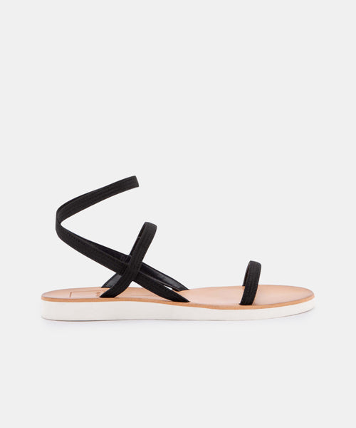 DAYLIN SANDALS IN BLACK ELASTIC -   Dolce Vita