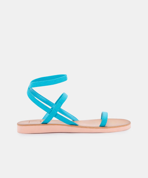DAYLIN SANDALS IN BRIGHT BLUE ELASTIC -   Dolce Vita