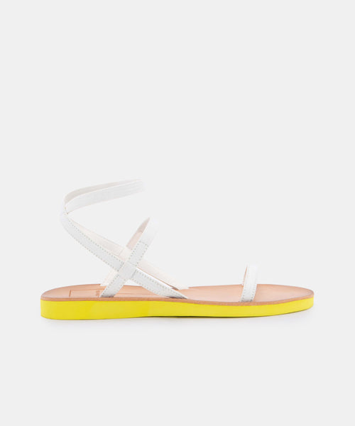 DAYLIN SANDALS IN WHITE ELASTIC -   Dolce Vita