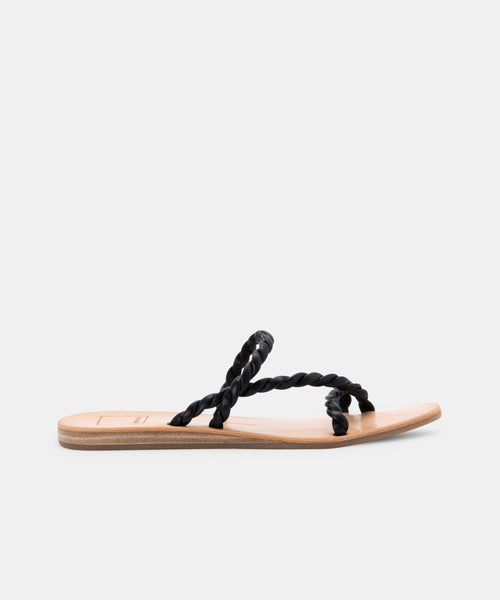 DEXLA WIDE SANDALS BLACK STELLA -   Dolce Vita