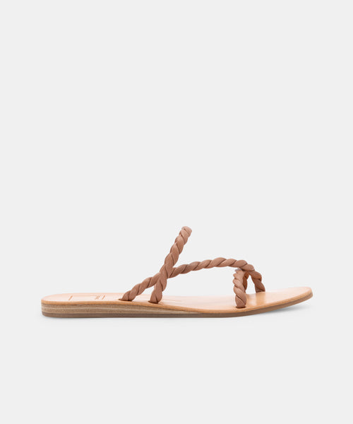 DEXLA WIDE SANDALS TAN STELLA -   Dolce Vita