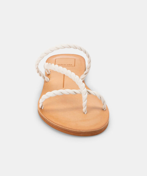 DEXLA SANDALS IN WHITE STELLA