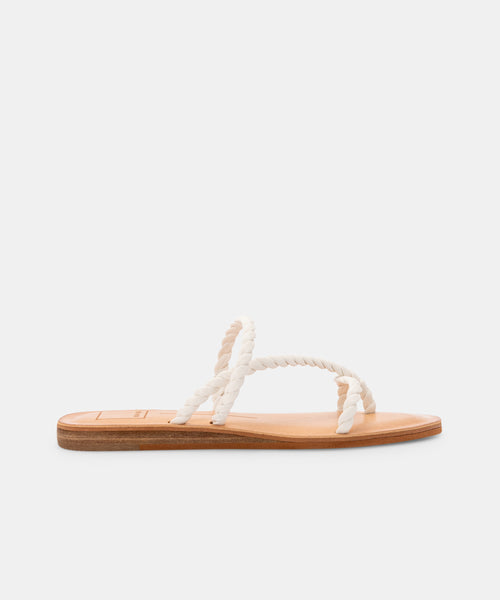 DEXLA WIDE SANDALS WHITE STELLA -   Dolce Vita