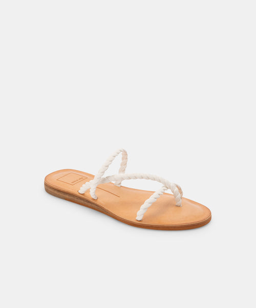 DEXLA SANDALS IN WHITE STELLA -   Dolce Vita