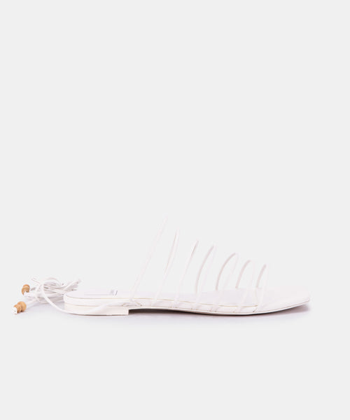 FEBE SANDALS IN WHITE ECO STELLA -   Dolce Vita