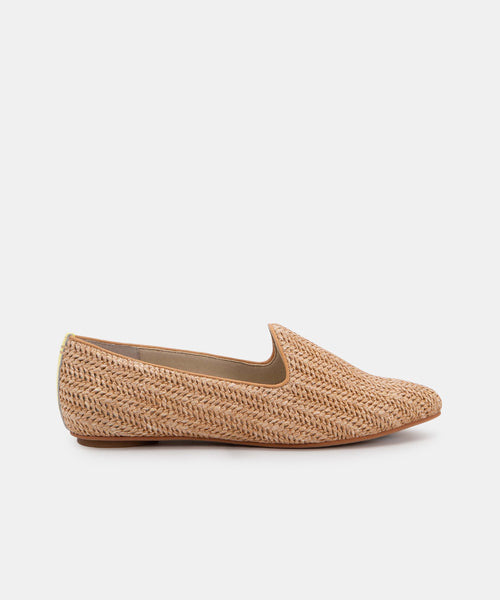GAIL FLATS IN NATURAL RAFFIA -   Dolce Vita