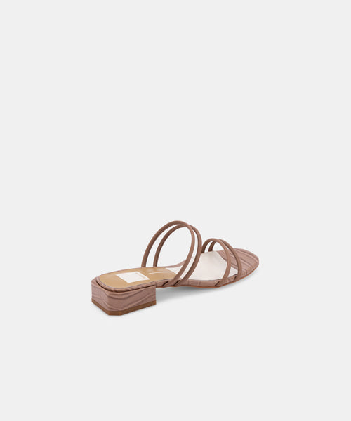 HAIZE SANDALS IN CAFE LEATHER -   Dolce Vita