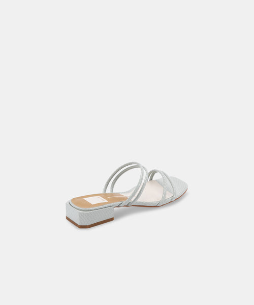 HAIZE SANDALS IN FRESCO EMBOSSED LEATHER -   Dolce Vita