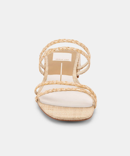 HAIZE SANDALS IN LT NATURAL RAFFIA -   Dolce Vita