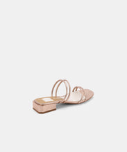 HAIZE SANDALS IN ROSE GOLD EMBOSSED LEATHER -   Dolce Vita