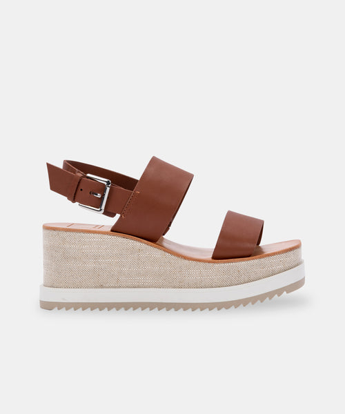 IDRAH SANDALS IN TOBACCO LEATHER -   Dolce Vita