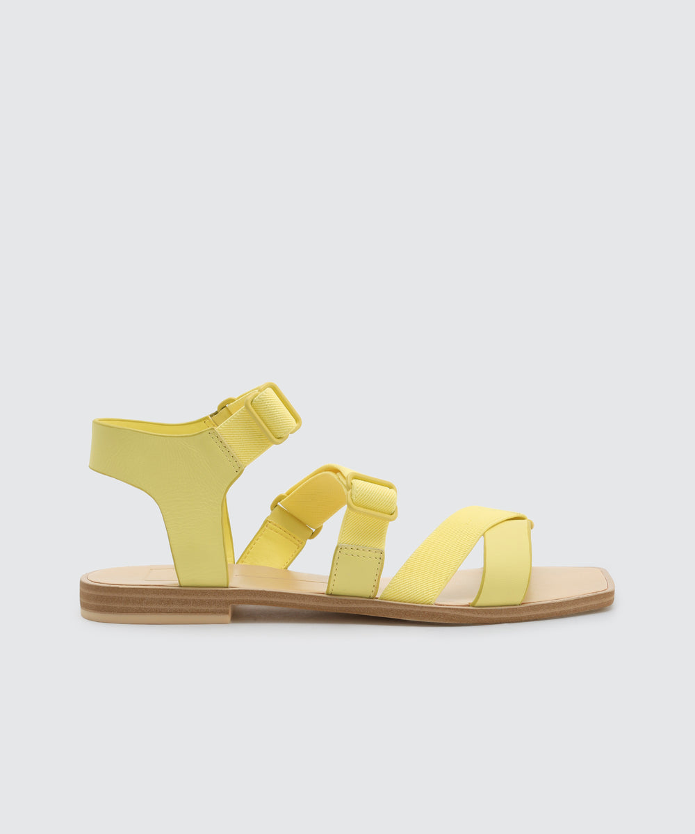 f0d1ca2907cd INDAH SANDALS IN CITRON
