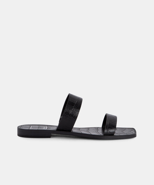 ISAAC SANDALS IN BLACK -   Dolce Vita