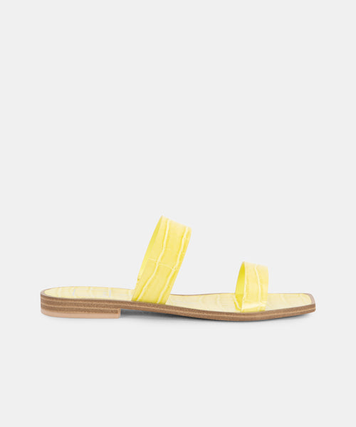 ISAAC SANDALS IN CITRON -   Dolce Vita