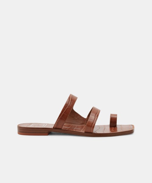 ISALA SANDALS IN BROWN -   Dolce Vita