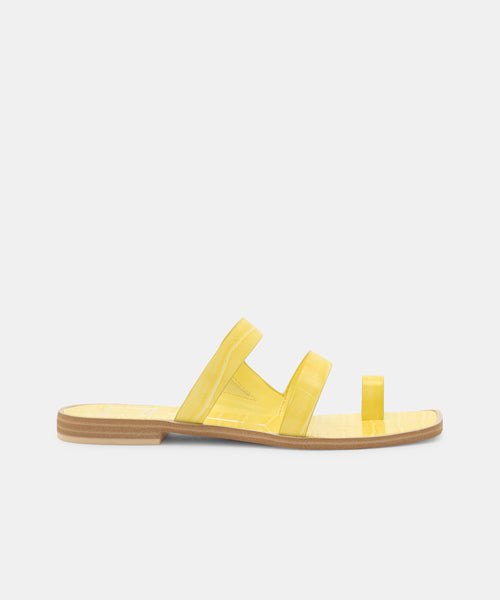 4638ef6a1553 ISALA SANDALS CITRON - Dolce Vita