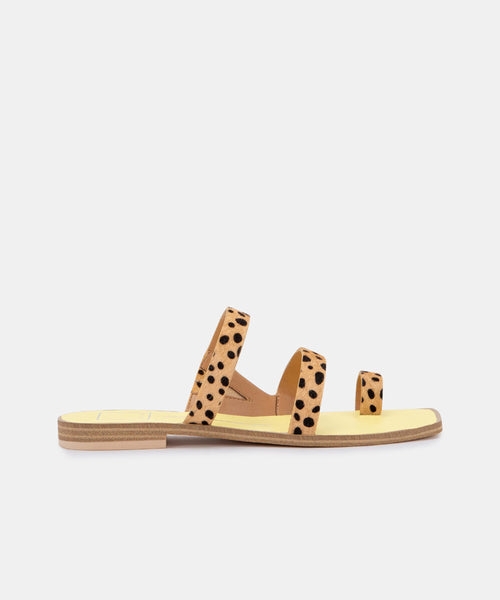 ISALA SANDALS IN LEOPARD CALF HAIR -   Dolce Vita