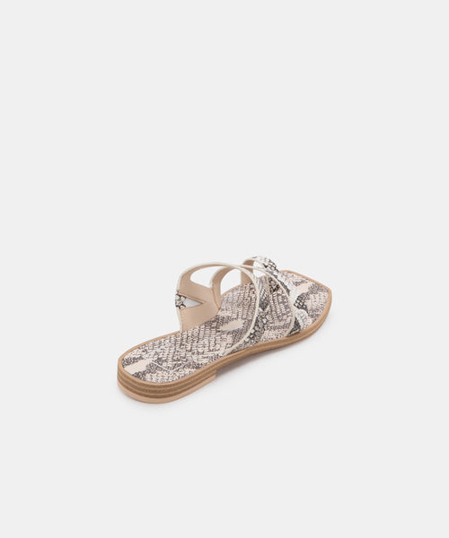 ISALA SANDALS IN SHADOW SNAKE PRINT STELLA -   Dolce Vita