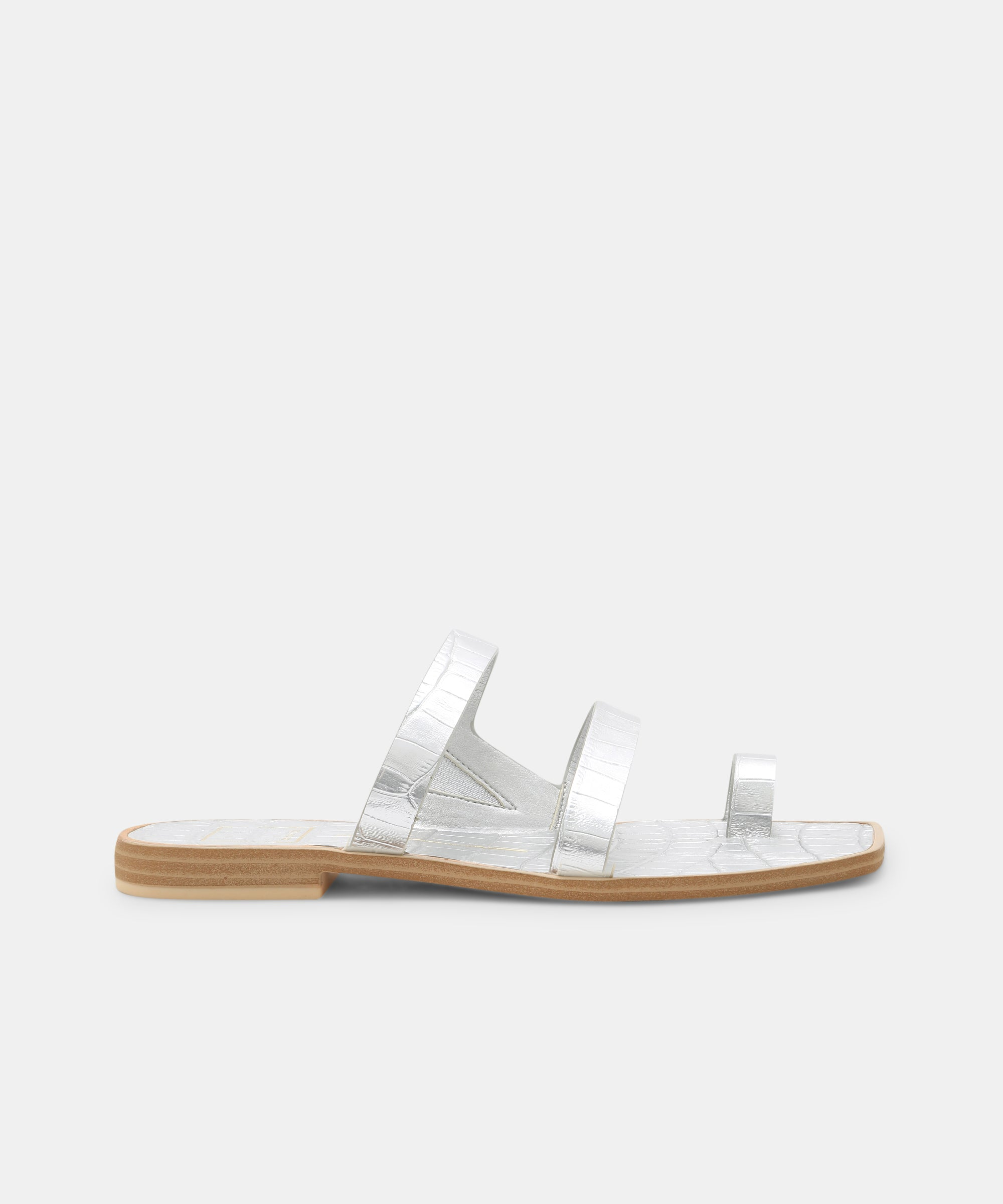 ISALA SANDALS IN SILVER – Dolce Vita