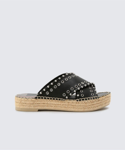 IVA SANDALS BLACK -   Dolce Vita