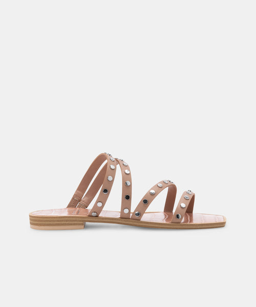 IZABEL WIDE STUDDED SANDALS CAFE STELLA -   Dolce Vita