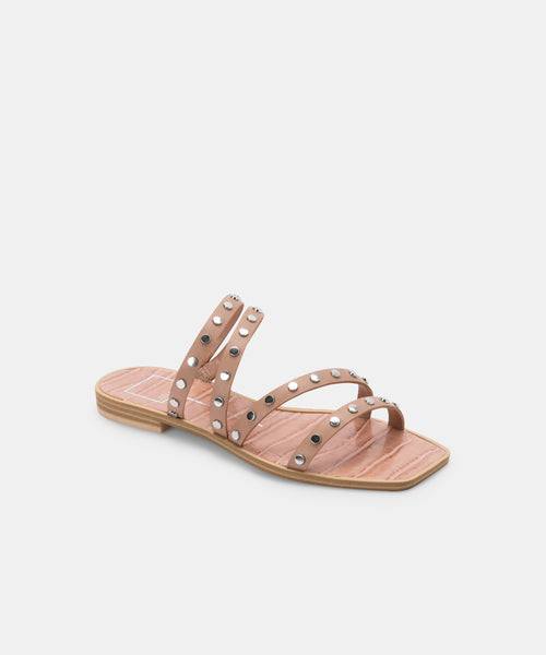 IZABEL STUDDED SANDALS IN CAFE STELLA -   Dolce Vita