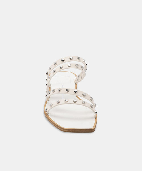 IZABEL STUDDED SANDALS IN OFF WHITE STELLA