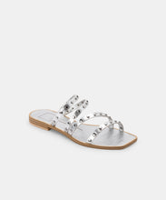IZABEL STUDDED SANDALS IN SILVER METALLIC STELLA -   Dolce Vita