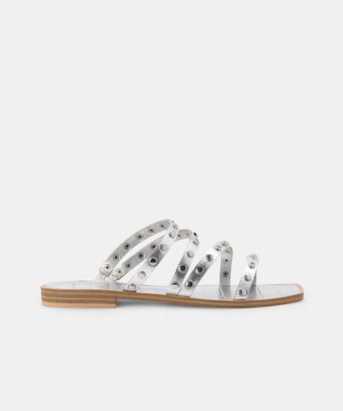 IZABEL SANDALS IN SILVER METALLIC STELLA -   Dolce Vita