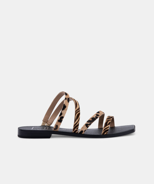 IZABEL SANDALS IN LEOPARD MULTI CALF HAIR -   Dolce Vita