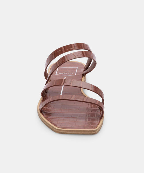 IZABEL SANDALS IN TOBACCO CROCO PRINT STELLA -   Dolce Vita