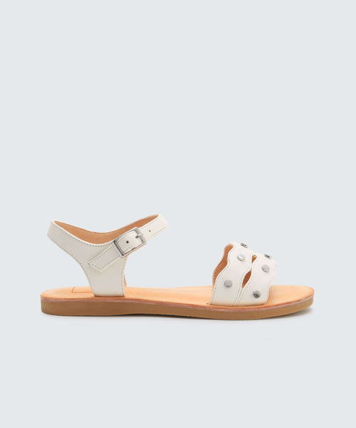 JACIN SANDALS IN WHITE -   Dolce Vita
