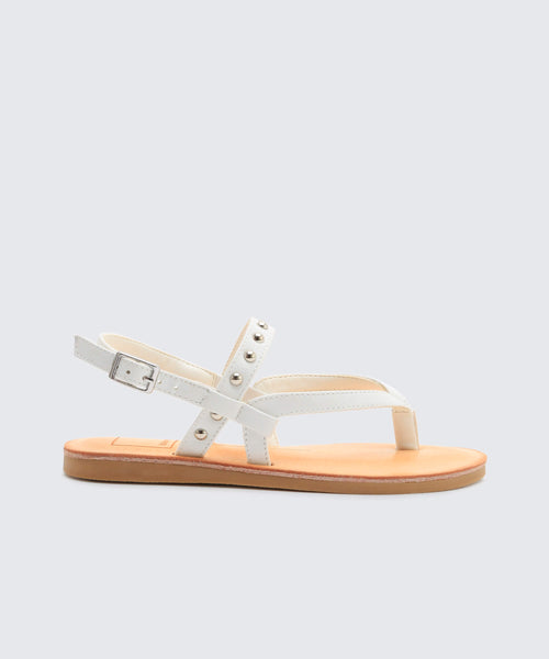 JALEX SANDALS IN WHITE -   Dolce Vita