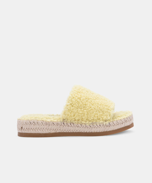 KARLEE SLIPPERS IN LIMON PLUSH -   Dolce Vita