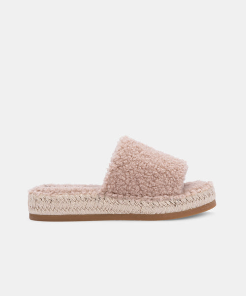 KARLEE SLIPPERS IN SAND PLUSH -   Dolce Vita